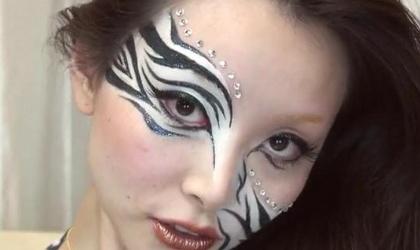 Ideas para Halloween: Maquillaje de cebra | LatinOL.com SpotFASHION