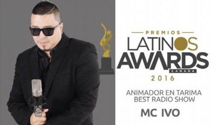 MC Ivo en los Premios Latinos Awards